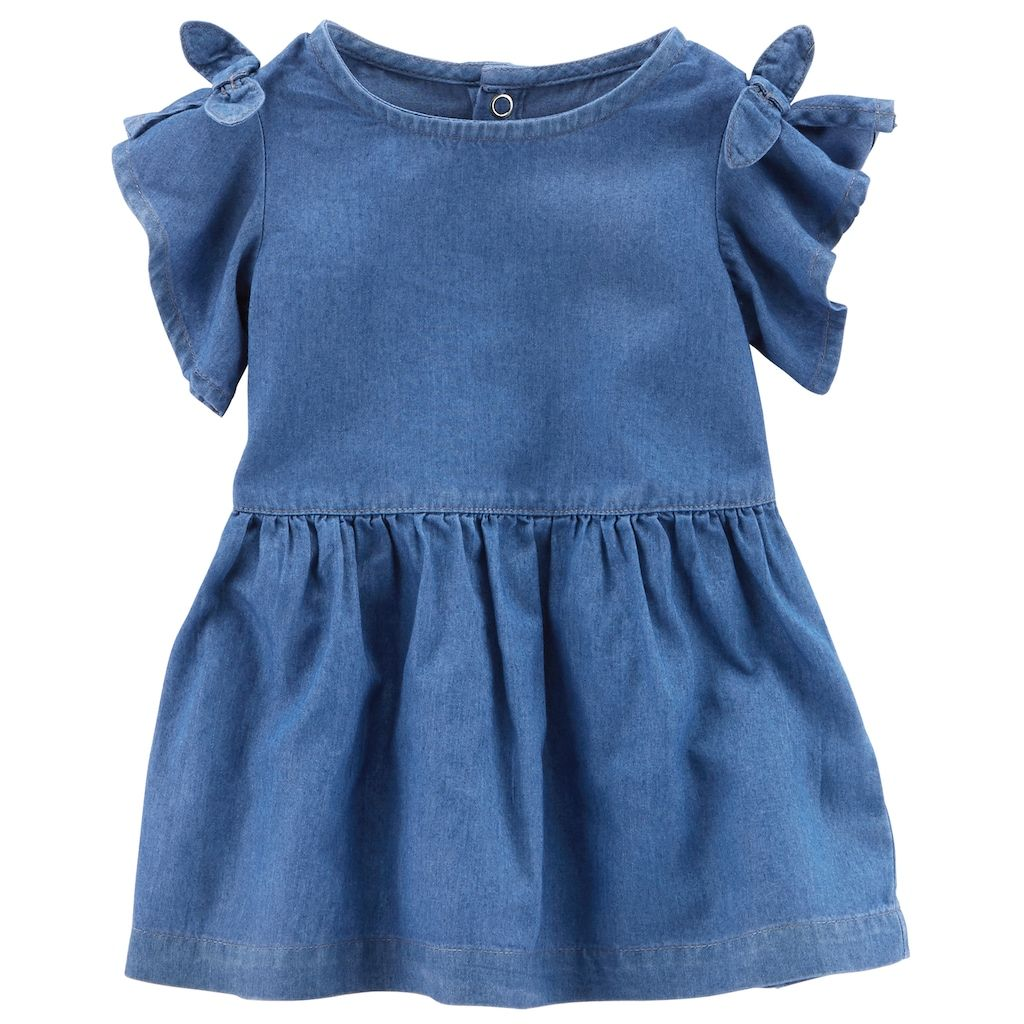 30b2f12dd602 Baby Girl Carter s Cold-Shoulder Chambray Dress