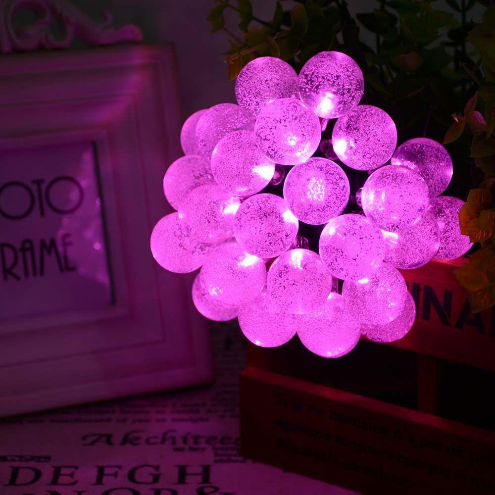 Pink String Lights Adorable Amazon Ledertek Solar Outdoor String Lights 197Ft 30 Led Pink Design Decoration