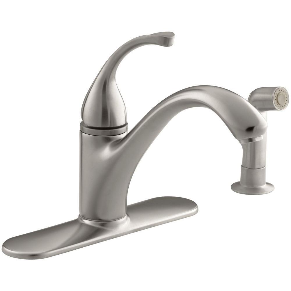 Kohler forte singlehandle standard kitchen faucet with side sprayer