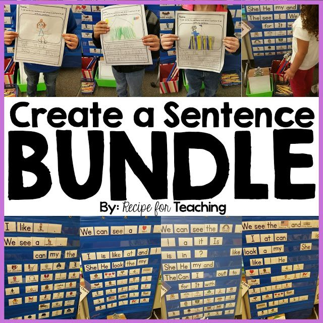 Create A Sentence Bundle  Sentences Reading Centers And Students
