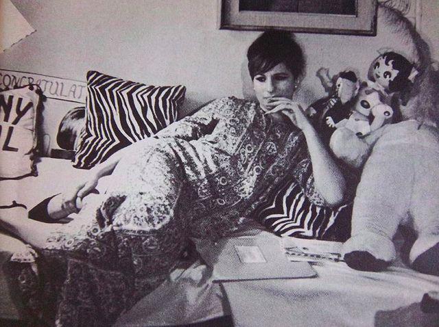 Streisand in her Funny Girl dressing room, 1965