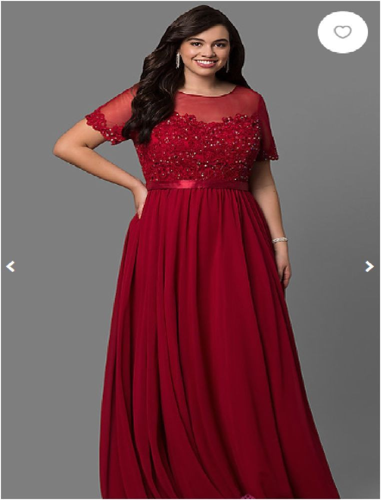 Details about Plus size Mother of the Bride in Burgundy, Champagne ...