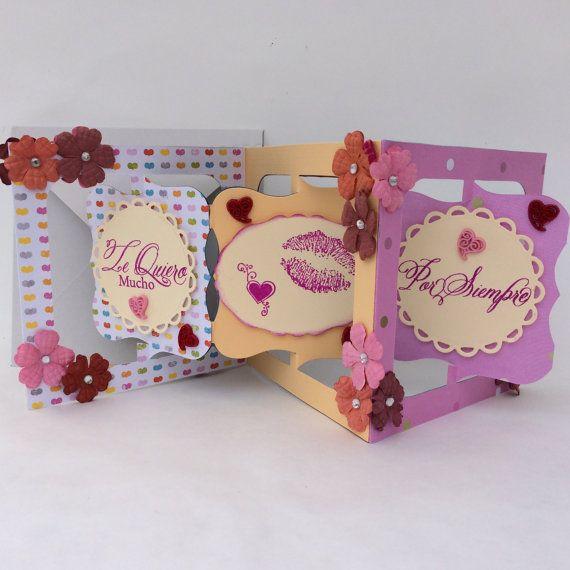 Valentine's Day Cards en Español. Valentine Card in Spanish Te Quiero Mucho by PrincessMouseyCards, $5.00
