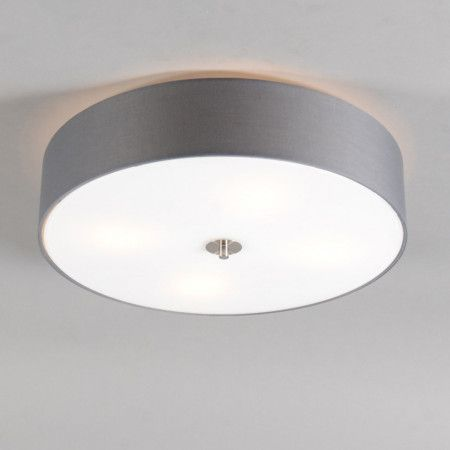 Deckenleuchte Drum 50 rund grau #Deckenleuchte #Deckenlampe - deckenleuchten für schlafzimmer