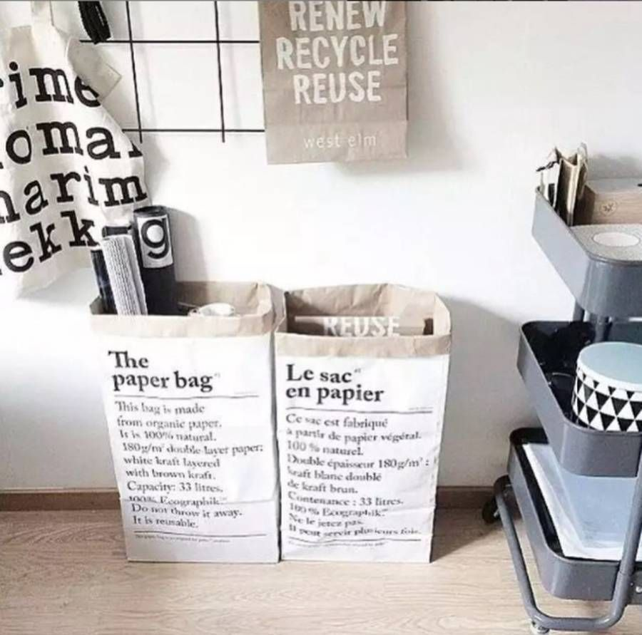Uber Trendy Paper Storage Bag Simple Stylish Is Something We Champion Here Are Peastyle And Le Sac En Papier The No Exception