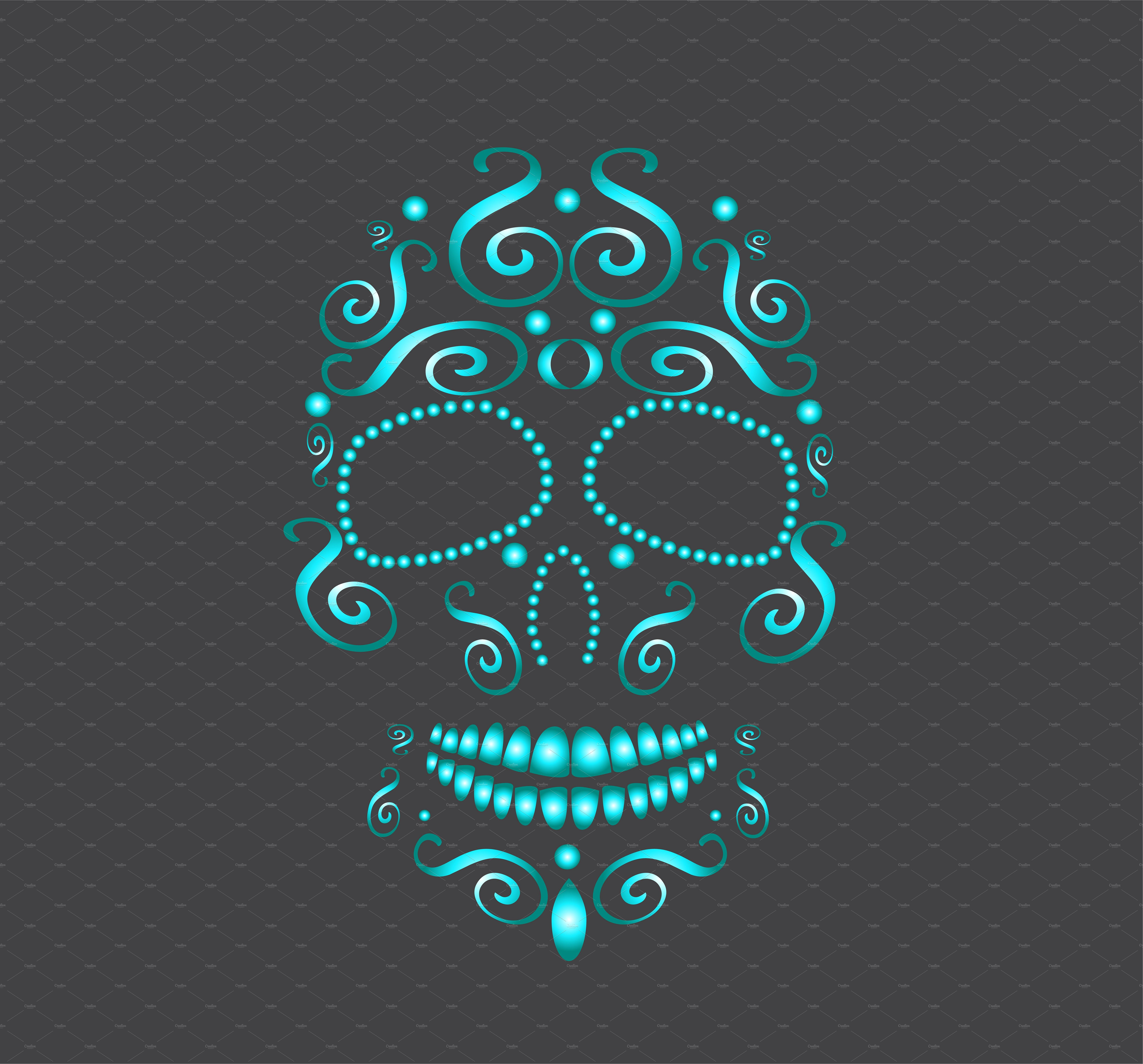 Skull vector neon blue Neon, Neon blue, Neon green