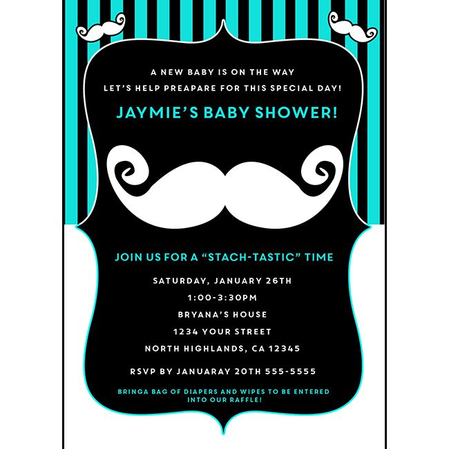 Blue white and black retro mustache bash baby shower birthday blue white and black retro mustache bash baby shower birthday invitations filmwisefo Image collections