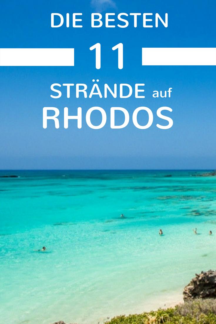 Die 11 Schönsten Strände Auf Rhodos Sommer Sonne Sand Urlaub