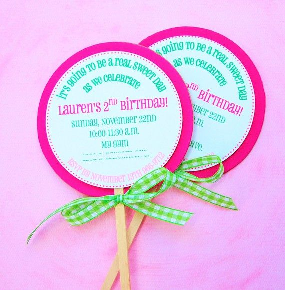 The candy land collection custom lollipop invitations by mary had the candy land collection custom lollipop invitations by mary had a little party on etsy filmwisefo