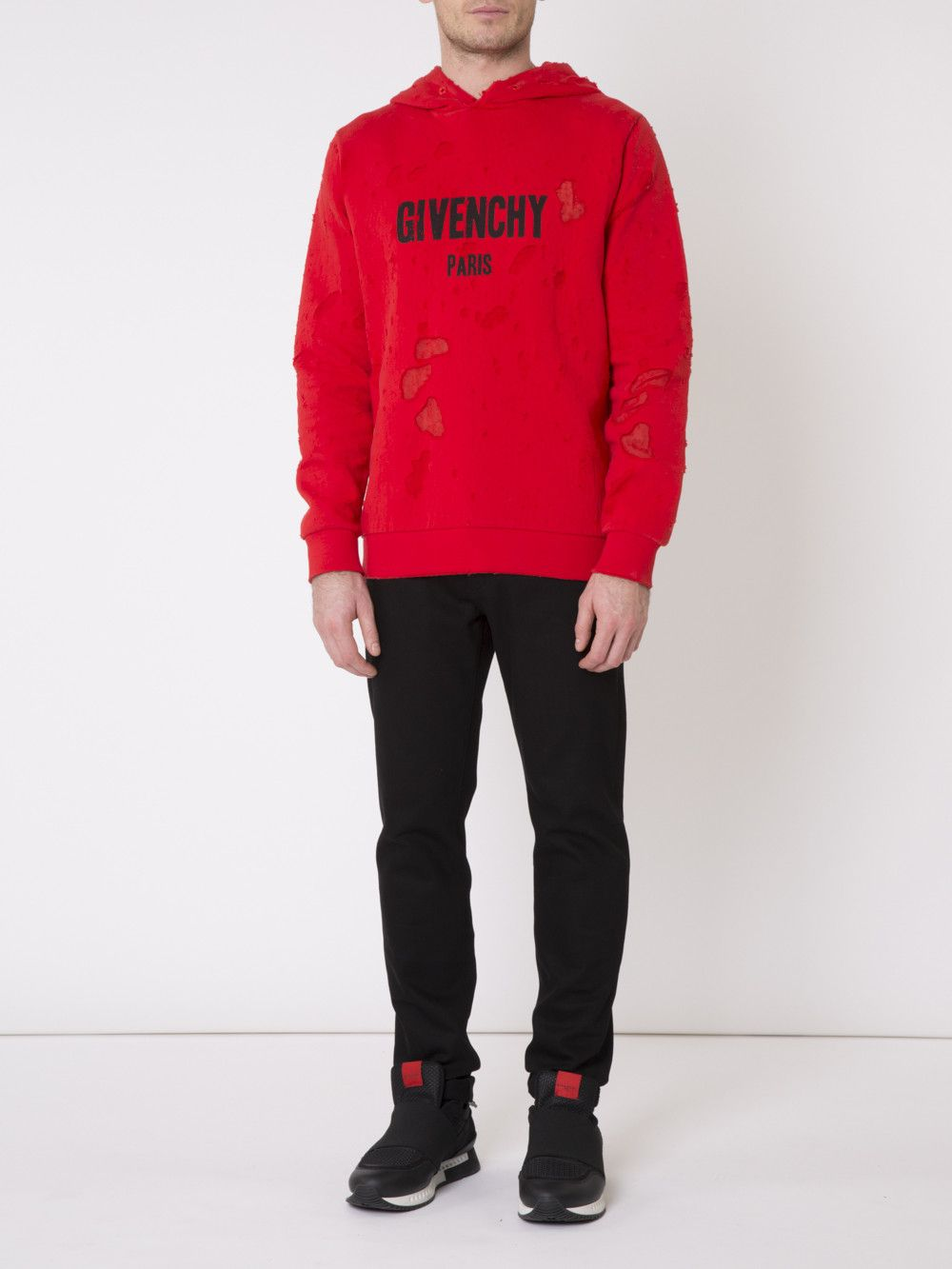 a555383a4fdc3f GIVENCHY Destroyed Hoodie. #givenchy #cloth #   Givenchy Men ...