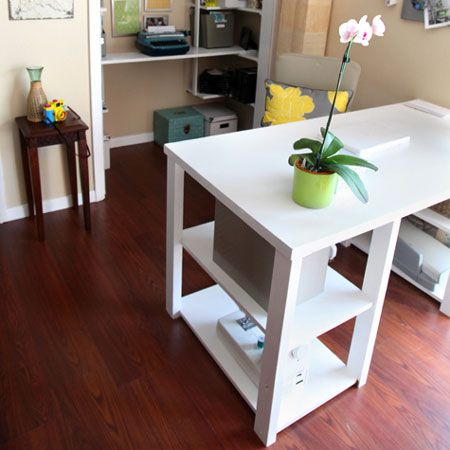 Home Dzine   Hollow Core Door Makes A Great Home Office Desk