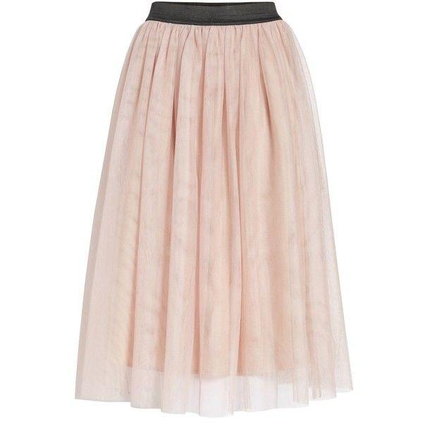 ffe96920a Women's Halogen Tulle Midi Skirt ($47) ❤ liked on Polyvore featuring skirts,  halogen skirt, pink skirt, layered skirt, knee length tulle skirt and  petite ...