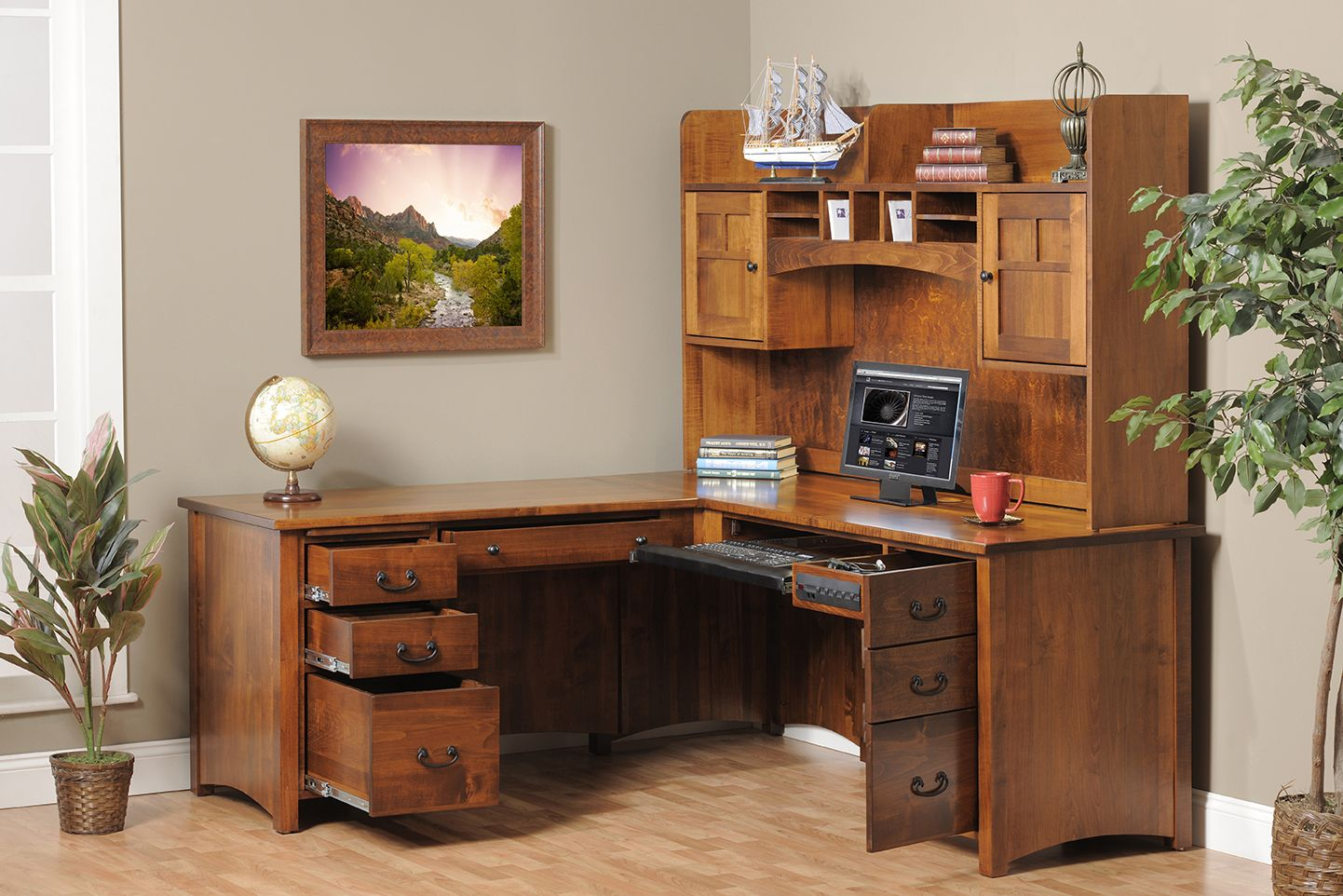 Delicieux 20 Top DIY Computer Desk Plans, That Really Work For Your Home Office. Corner  Desk With HutchDesk ...