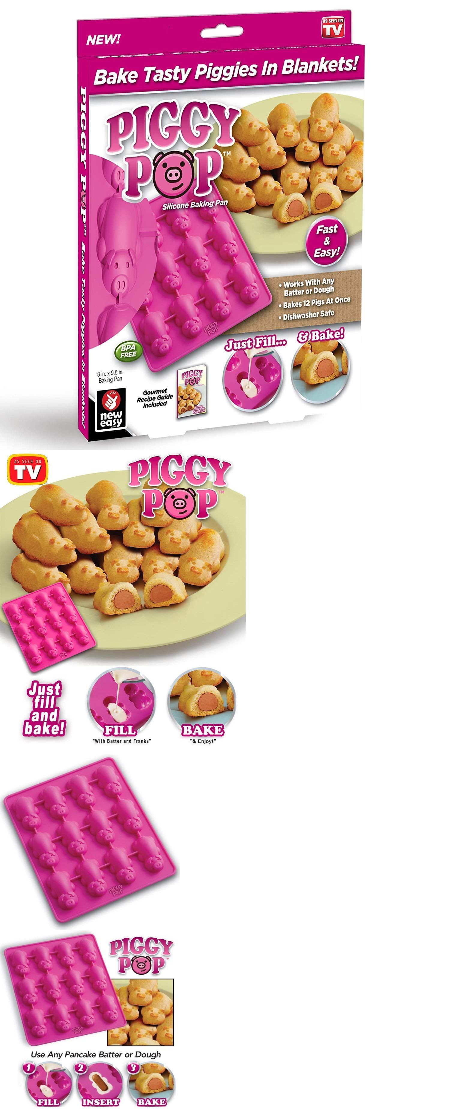 Bakeware 25464 Piggy Pop Silicone Non Stick 12 Little
