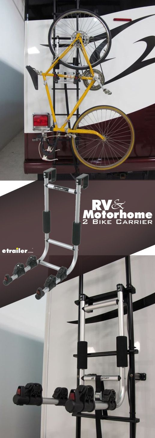The Swagman Rv Or Motorhome Ladder Mounted Bike Rack Is A Great Solution For Getting Your Bikes Where You Need To Go When You Bike Rack Motorhome Rv Bike Rack