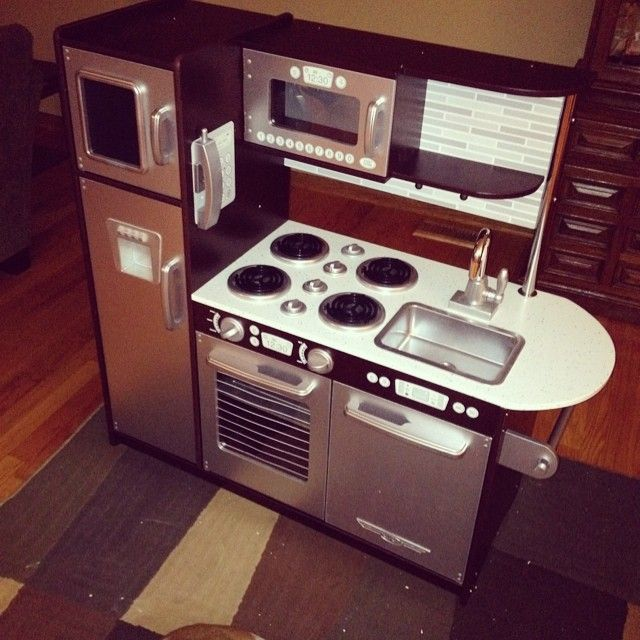 uptown espresso kitchen #kidkraft #playkitchen #toykitchen