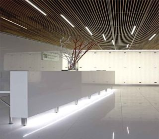 Like the ceiling reception desk creative and interesting for Office design yorkshire