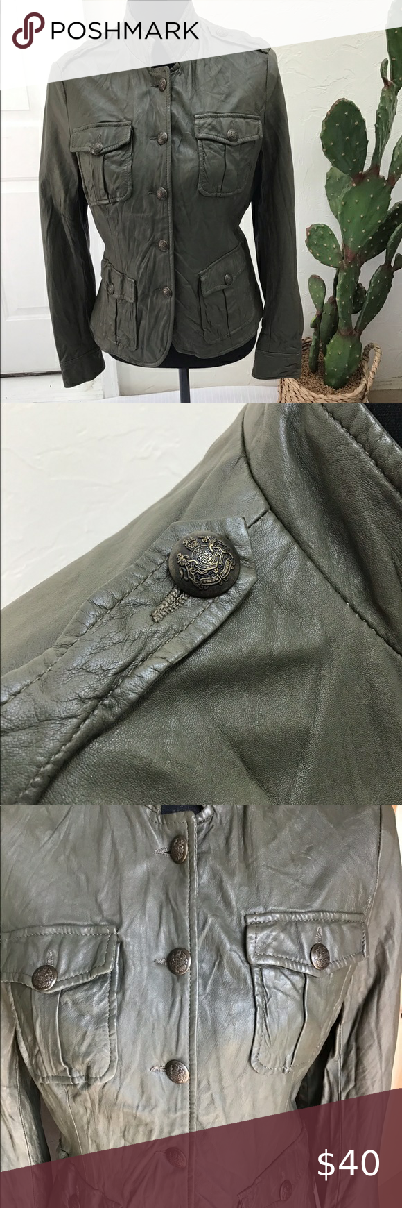 Military Inspired Olive Green Leather Jacket In 2020 Green Leather Jackets Olive Green Leather Jacket Leather Jacket [ 1740 x 580 Pixel ]