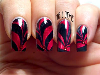 By Nail Jems 100 Posts And A Water Marble Miracle Www