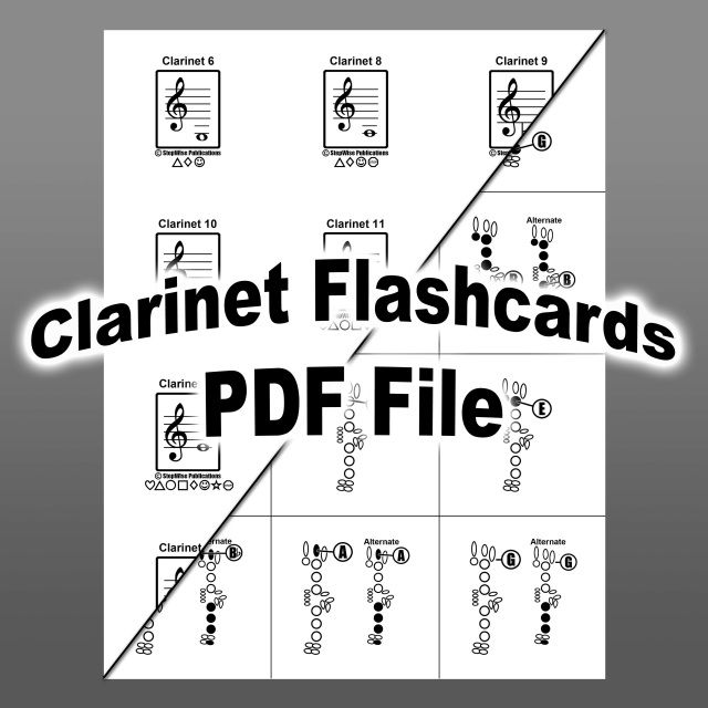 Clarinet Fingering Chart Flashcards  Pdf Download You Can Print