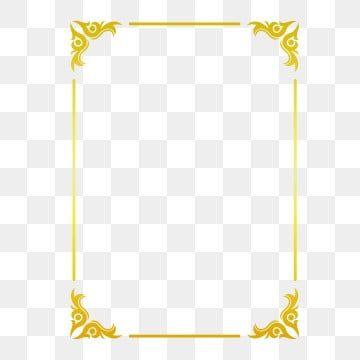 Golden Border Warm Color Border Frame Picture Frame Gold Hot Stamping Style Bronzing Border Rectangular Border Png And Vector With Transparent Background For In 2020 Frame Border Design Frame Clipart Flower Frame