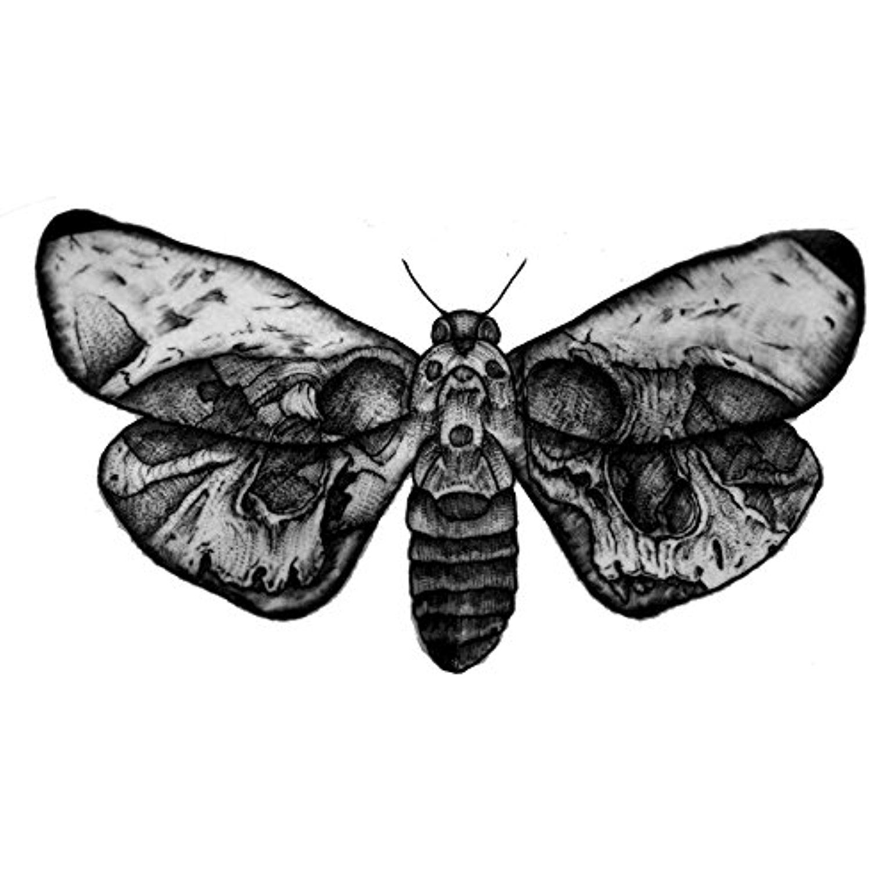 Gothic moth metallic flash temporary tattoos body jewelery stickers