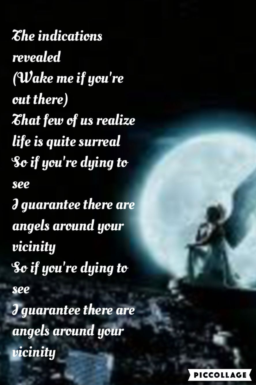 Angels Owl City lyric background #1