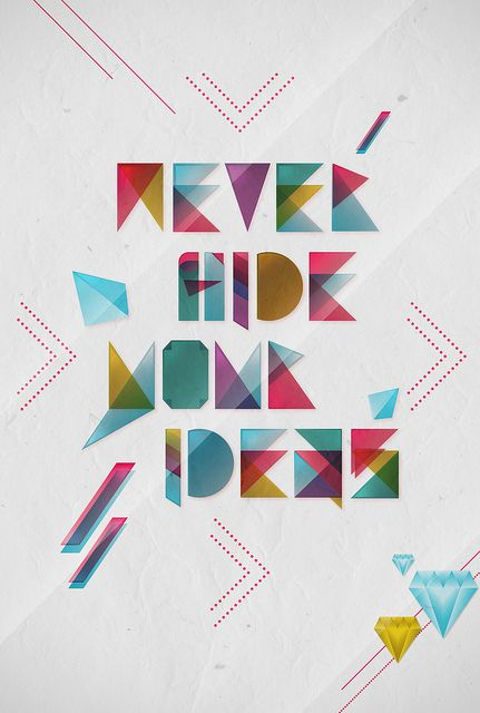 Never hide your ideas! by where`s my ink?, via Flickr