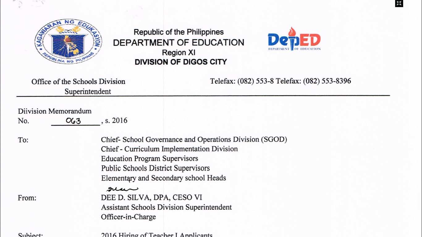 Deped Digos City Ranking Teacher Applicants Teacherph School