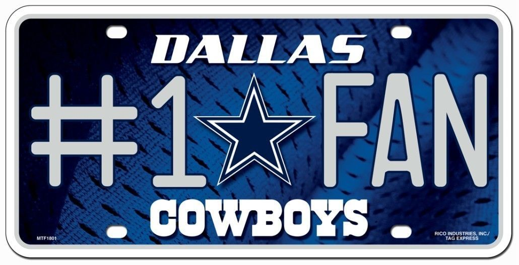 Football #1 Team Fan License Plate NEW Aluminum Metal Signs