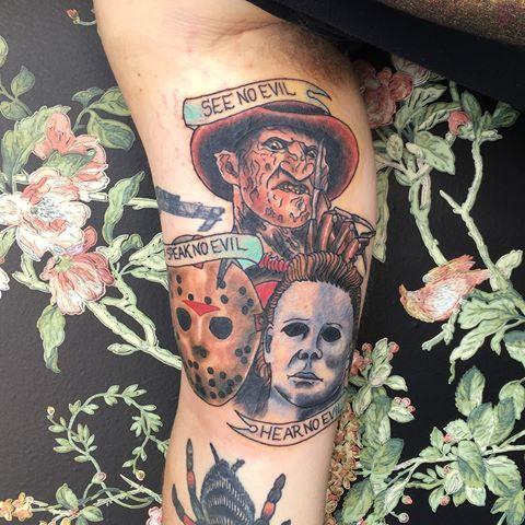 Lainedtattoos In 2020 Horror Tattoo Movie Tattoos Badass Tattoos
