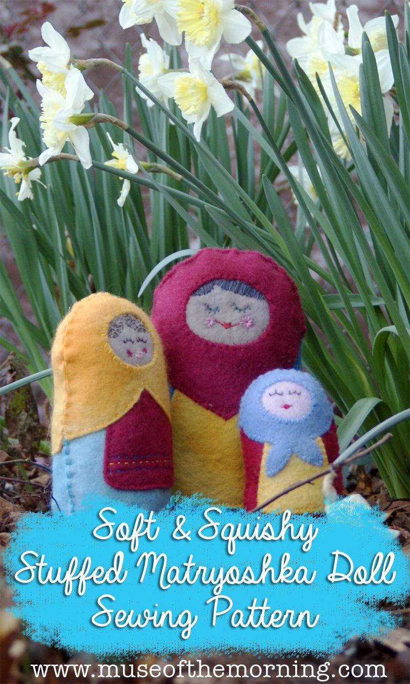 Soft & Squishy Stuffed Matryoshka Doll Pattern