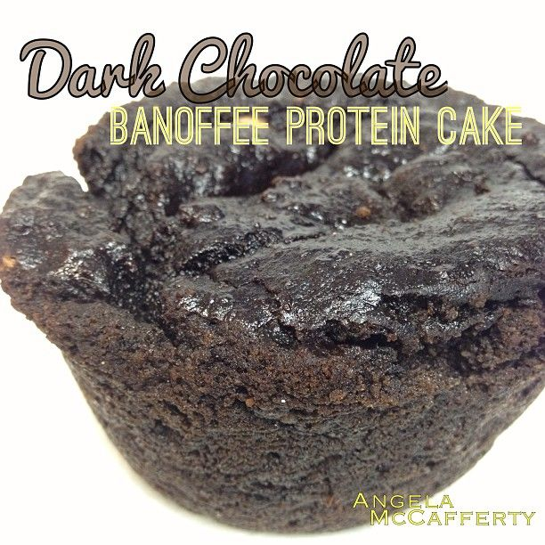 Special Dark Cocoa-Coffee Protein Cake: 1 medium ripe banana, 1/4 c almond flour, 1/2 scoop chocolate protein, 1 tbs special dark cacao powder, 1 tsp instant coffee, 1/2 tsp baking soda, 1/2 tsp baking powder, 3 tbs liquid egg whites (or 1 large egg white), 1 tsp vanilla. Blend banana with the vanilla and egg whites. Then stir in other ingredients. Bake in a small dish (about 1-2 cup size ramekin) at 350 for about 25 min.