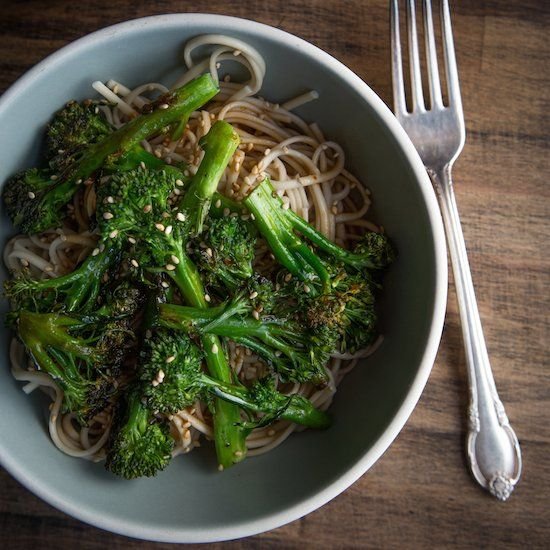 Spicy Soba with Roasted Broccoli.