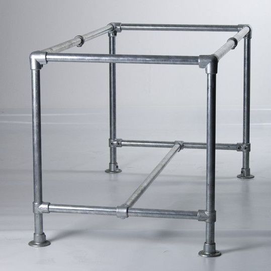 Homemade scaffold furniture. Strong steel table frame made from ...