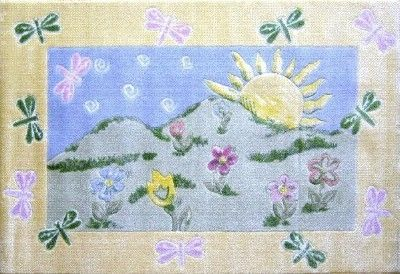 "Dragonfly Morning Rug 39"" X 58"""
