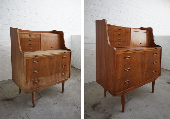 Refreshing Vintage Wood Furniture Tutorial From The Brick House. I Will  Have To Try This On The Headboard I Just Got.