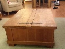 Oak Coffee Table Trunk Or Chest Fantastic Storage