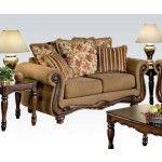 Acme Furniture - Olysseus Fabric Loveseat in Brown - 50311