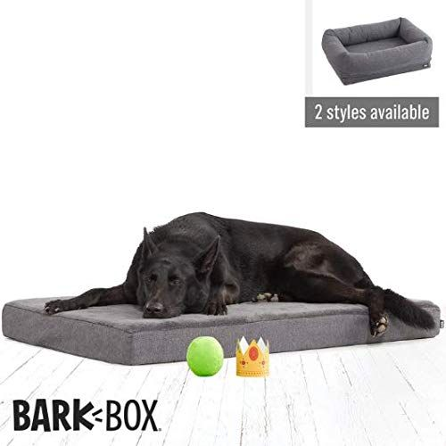 BarkBox XLarge Jumbo 4 Inch Tall Gray Orthopedic Memory Foam Dog Bed or CrateKennel Mat