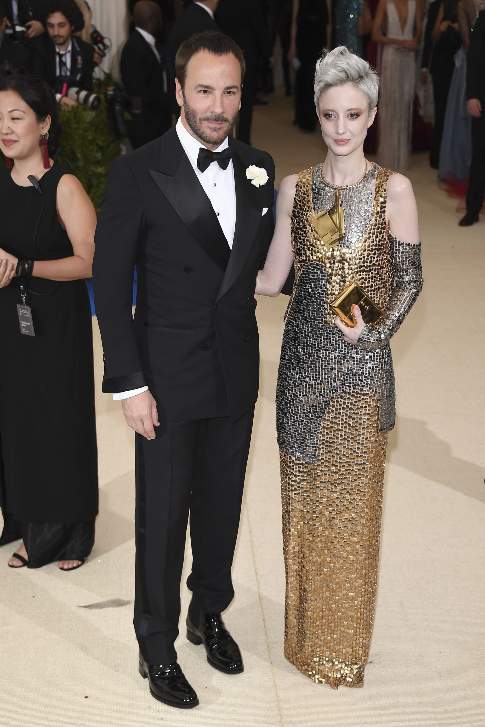Tom Ford And Andrea Riseborough In Getty Met Gala 2017