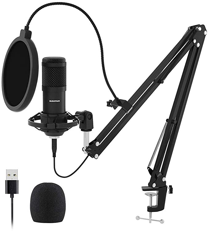 Amazon Com Usb Streaming Podcast Pc Microphone Sudotack Professional 192khz 24bit Studio Cardioid Condenser Mic Kit Wi In 2020 Microphone Sound Card Blue Microphones