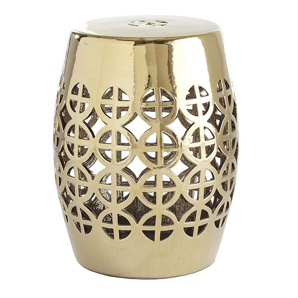 Gentil Wisteria   Furniture   Shop By Category   Poufs U0026 Stools   Gold Geometric Garden  Stool