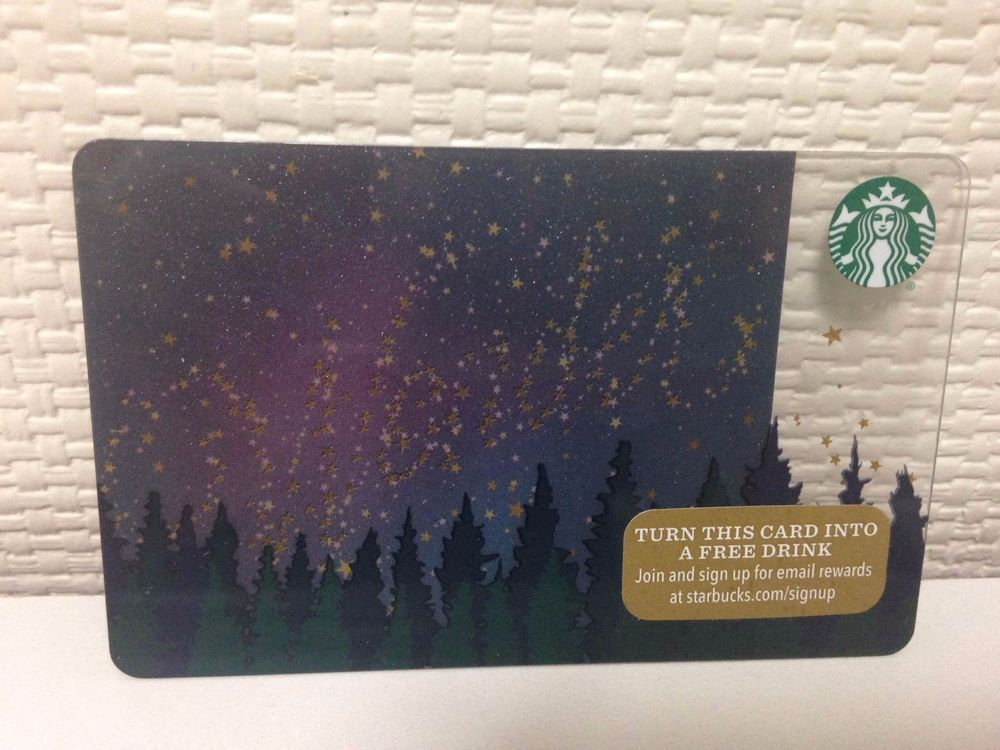 Starbucks Card Collection Wonder Starry Sky Wood limited US PIN ...