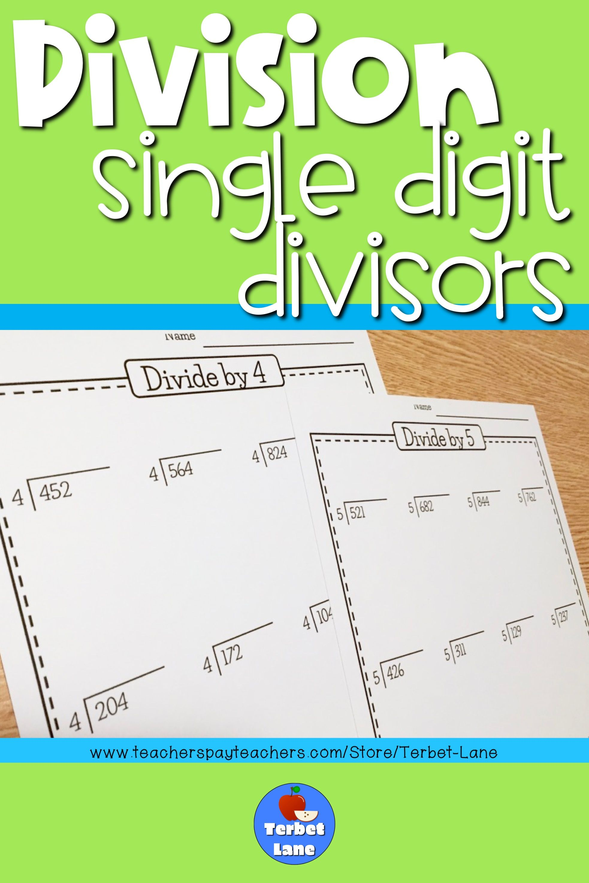 Division Worksheets With Single Digit Divisors With