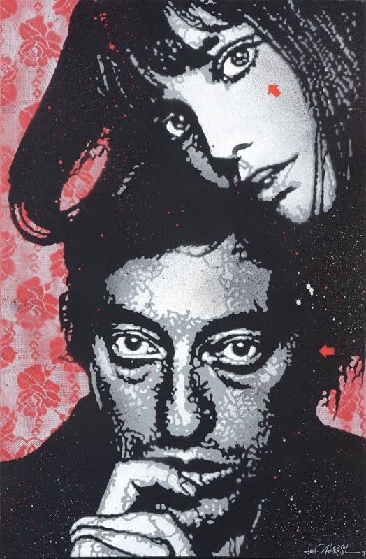 Artist Jef Aérosol 2013...Birkin & Gainsbourg