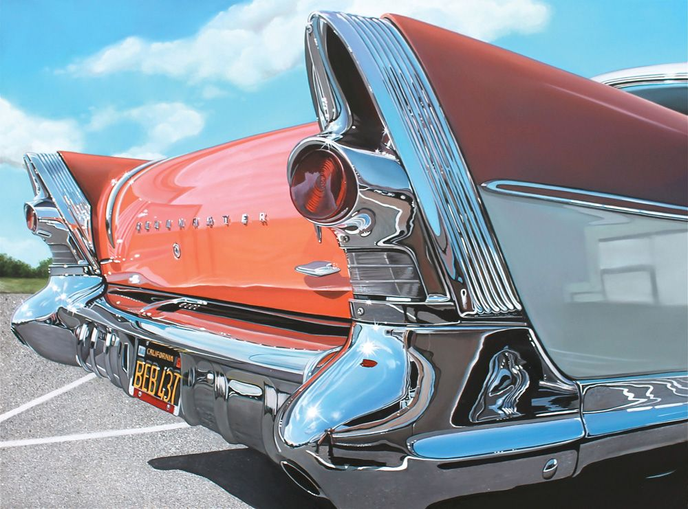 Classic Muscle Cars Paintings By Cheryl Kelley Roadmaster Old