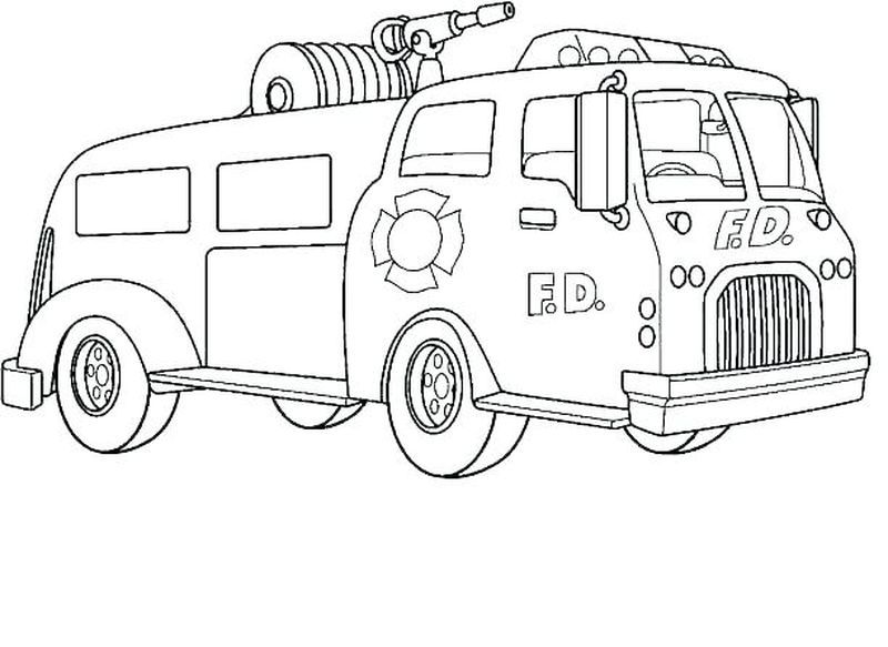 Free Fireman Coloring Pages Truck Coloring Pages Printable Coloring Pages Coloring Pages To Print