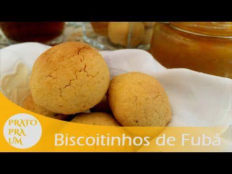 Prato Pra Um - Biscoitinhos de Fubá