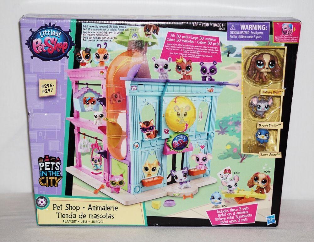 Lps Littlest Pet Shop Pets In The City Pet Shop 295 297 New Hasbro Littlest Pet Shop Lps Littlest Pet Shop City Pets